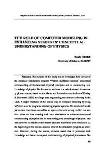 THE ROLE OF COMPUTER MODELING IN ENHANCING STUDENTS CONCEPTUAL UNDERSTANDING OF PHYSICS