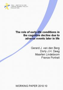 The role of early-life conditions in the cognitive decline due to adverse events later in life