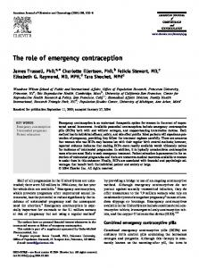The role of emergency contraception