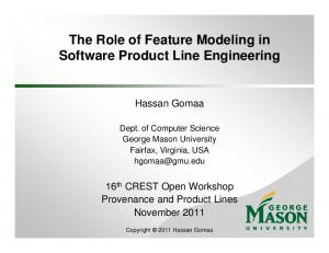 The Role of Feature Modeling in Software Product Line Engineering