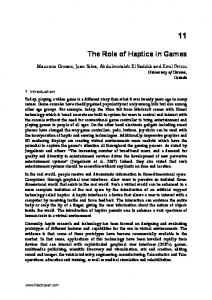 The Role of Haptics in Games