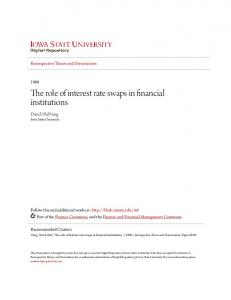 The role of interest rate swaps in financial institutions