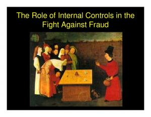 The Role of Internal Controls in the Fight Against Fraud