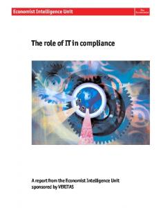 The role of IT in compliance