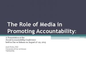 The Role of Media in Promoting Accountability:
