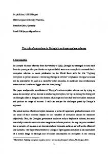 The role of narratives in Georgia s anti-corruption reforms