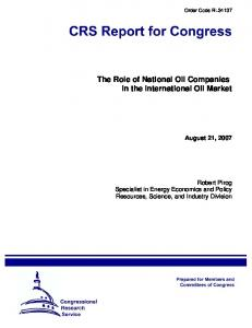 The Role of National Oil Companies in the International Oil Market