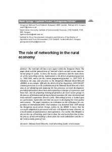 The role of networking in the rural economy