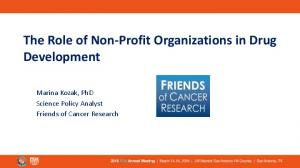 The Role of Non-Profit Organizations in Drug Development