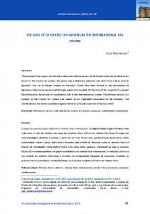 THE ROLE OF OFFSHORE TAX HAVENS IN THE INTERNATIONAL TAX SYSTEM