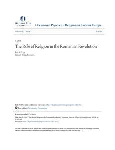 The Role of Religion in the Romanian Revolution