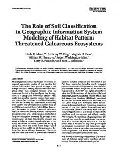 The Role of Soil Classification in Geographic Information System Modeling of Habitat Pattern: Threatened Calcareous Ecosystems
