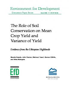 The Role of Soil Conservation on Mean Crop Yield and Variance of Yield