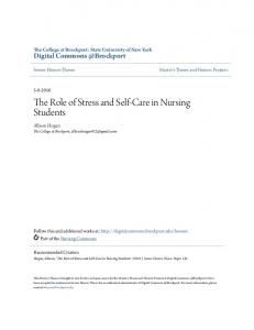The Role of Stress and Self-Care in Nursing Students