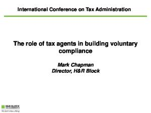 The role of tax agents in building voluntary compliance