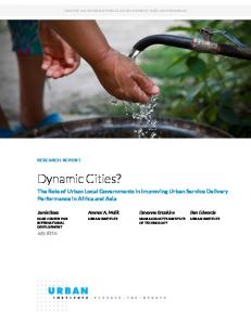 The Role of Urban Local Governments in Improving Urban Service Delivery Performance in Africa and Asia