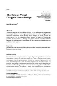 The Role of Visual Design in Game Design