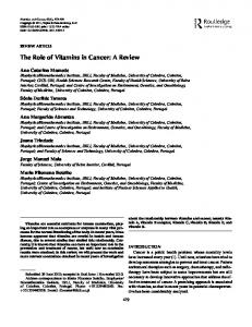 The Role of Vitamins in Cancer: A Review