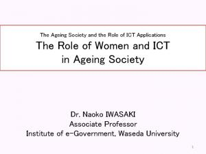 The Role of Women and ICT in Ageing Society