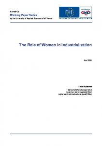 The Role of Women in Industrialization
