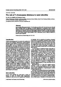 The role of Y chromosome deletions in male infertility