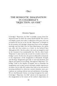 THE ROMANTIC IMAGINATION IN COLERIDGE S DEJECTION: AN ODE