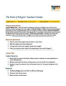 The Roots of Religion: Teacher s Guide