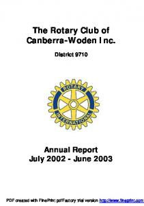 The Rotary Club of Canberra-Woden Inc