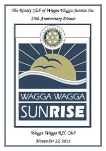 The Rotary Club of Wagga Wagga Sunrise Inc. 20th Anniversary Dinner