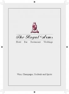 The Royal Arms Hotel Bar Restaurant Weddings