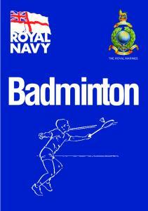 THE ROYAL MARINES. Badminton