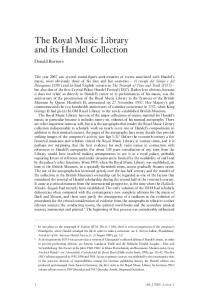 The Royal Music Library and its Handel Collection