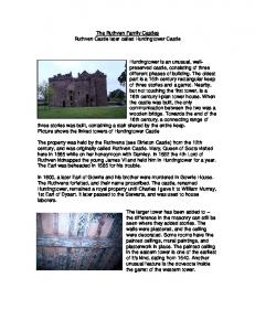 The Ruthven Family Castles Ruthven Castle later called Huntingtower Castle
