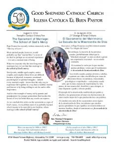 The Sacrament of Marriage: The School of God s Mercy