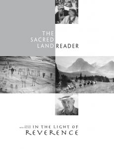the sacred land reader in the light of For use with the film reverence