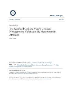 The Sacrificed God and Man's Creation: Nonaggressive Violence in the Mesopotamian Atraḫasīs
