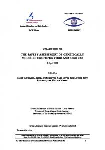 THE SAFETY ASSESSMENT OF GENETICALLY MODIFIED CROPS FOR FOOD AND FEED USE