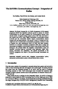The SANDRA Communications Concept Integration of Radios