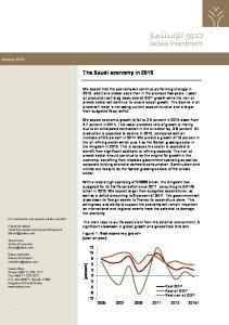 The Saudi economy in 2015