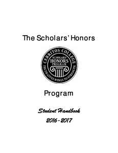 The Scholars Honors. Program