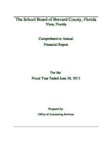 The School Board of Brevard County, Florida Viera, Florida