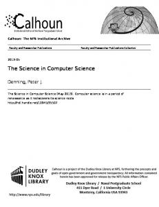 The Science in Computer Science
