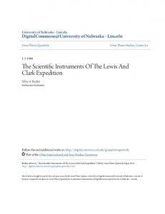 The Scientific Instruments Of The Lewis And Clark Expedition