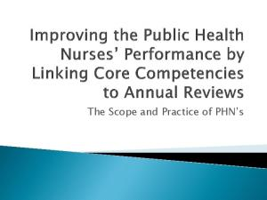 The Scope and Practice of PHN s