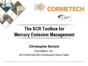 The SCR Toolbox for Mercury Emission Management