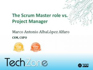 The Scrum Master role vs. Project Manager
