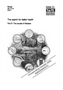 The search for better health