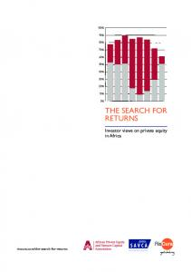 THE SEARCH FOR RETURNS