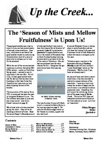 The Season of Mists and Mellow Fruitfulness is Upon Us!