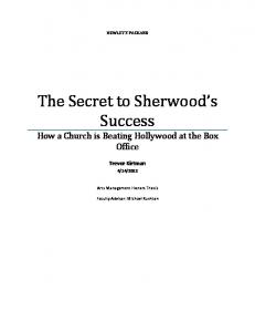 The Secret to Sherwood s Success